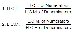 H.C.F. and L.C.M. of Fractions