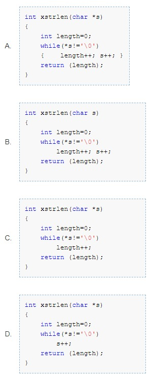 Which of the following function is correct that finds the length of a string