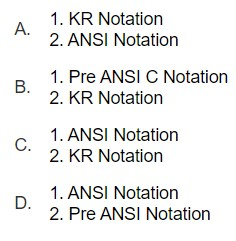 What is the notation for following functions