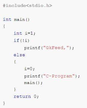 What will be the output of the program